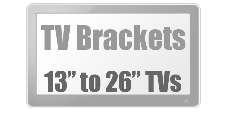 Brackets to fit 13 to 26 inch Tvs