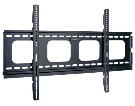 "Black Super Slim Universal Fixed Bracket For TVs up to 90\"""