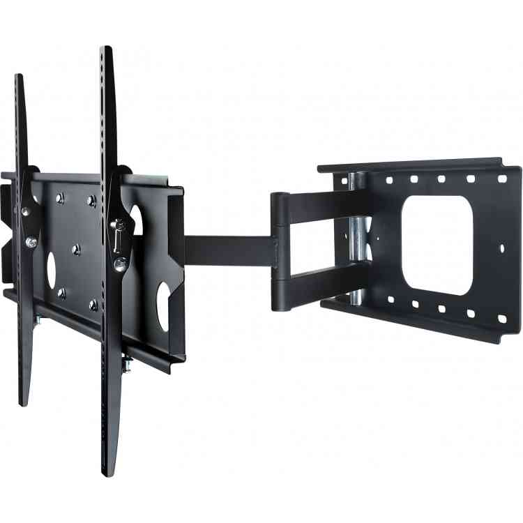 "Pull Out Tilt and Turn Black TV Mount For 42""- 80\"" TVs"