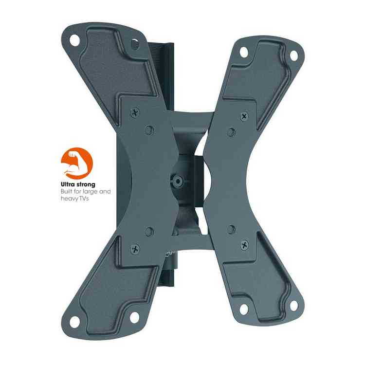 WALL 1120 Black Tilt & Turn TV Wall Bracket