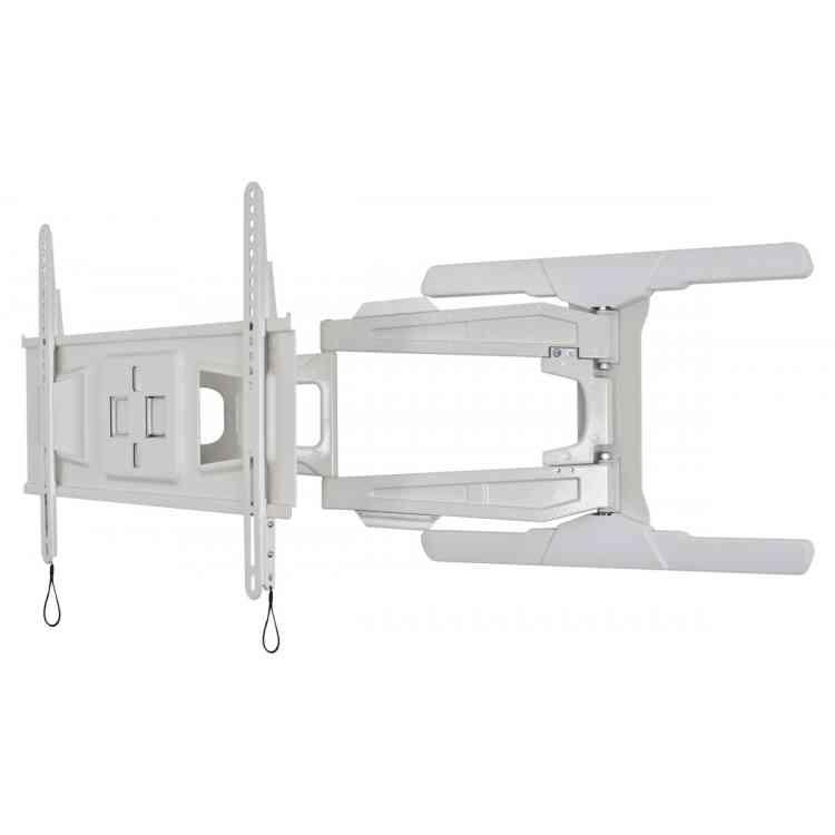 B-Tech BT8221/W Ultra Slim Double Arm Cantilever TV Bracket - White