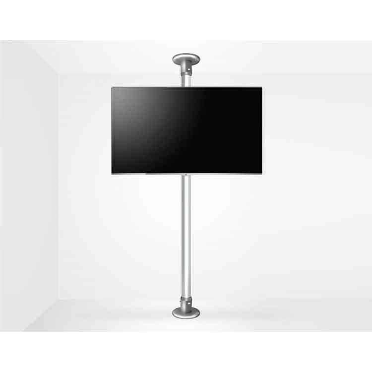"""B-Tech Floor To Ceiling Mount For Up 55\"""" 3m Pole - Chrome"""