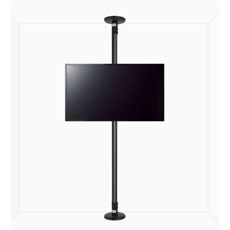 """B-Tech Floor to Ceiling Mount for up to 55\"""" TVs - 4m Pole - Black"""