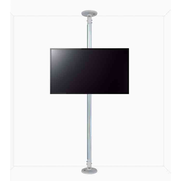 """B-Tech Floor to Ceiling Mount for up to 80\"""" TVs - 2m Pole - Chrome"""