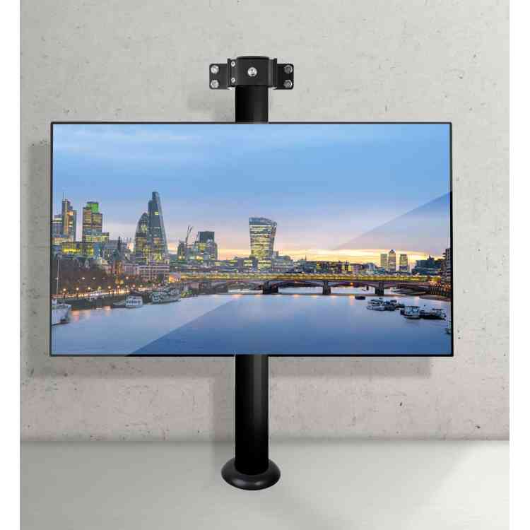"""B-Tech Floor to Wall Mount for up to 55\"""" TVs - 1m Pole - Black"""