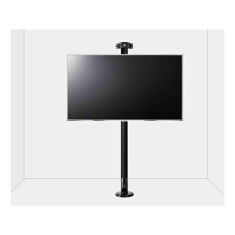"""B-Tech Floor to Wall Mount for up to 55\"""" TVs - 2m Pole - Black"""