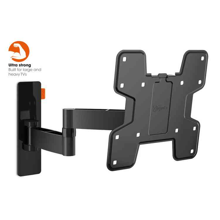 "Vogel\'s Wall 3145 Extra Thin Full-Motion Wall Bracket for 19"" to 43\"" TV\'s - Black"