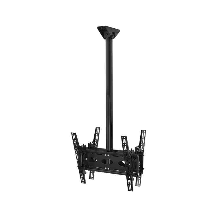"B-Tech BT8428 Back-to-Back Universal Flat Screen Ceiling Mount with Tilt For upto 65"" TVs - 3m"