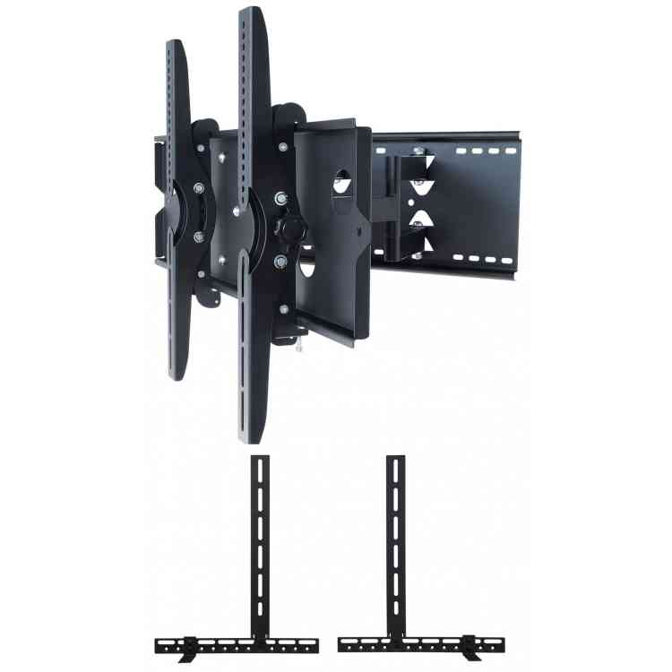 "UM110M Universal Tilt and Turn Mount up to 90\"" TVs with Universal Soundbar Mount included - Black"