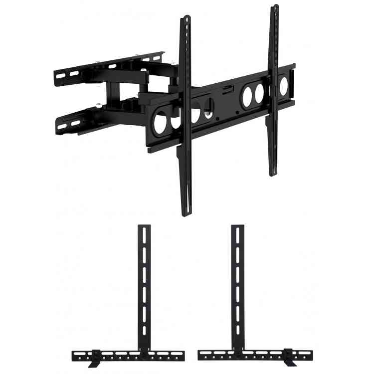 """Universal Extra Large Cantilever TV Wall Bracket for up to 70\"""" TVs including Soundbar Mount - Twin Arm"""