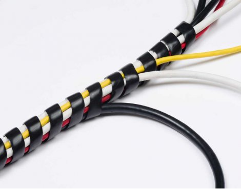 D-Line CTW2.5 Black Spiral Cable Wrap