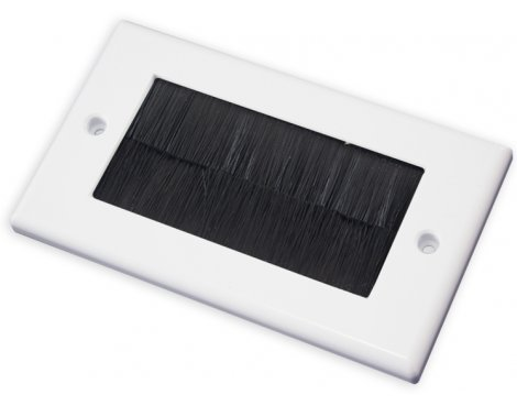 Double Outlet Brushplate - White