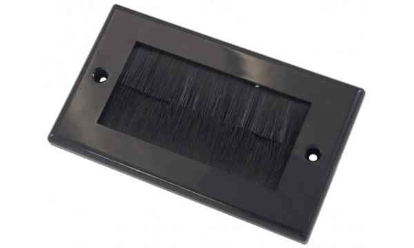 Double Outlet Brushplate - Black