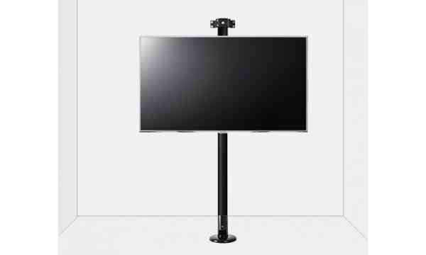 """B-Tech Floor to Wall Mount for up to 55"""" TVs - 3m Pole - Black"""