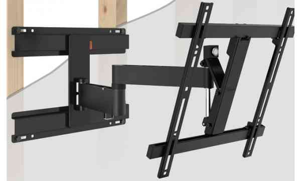 "Vogel's Wall 2246 Extra Thin Full-Motion Wall Bracket for 32"" to 55"" TV's - Black"