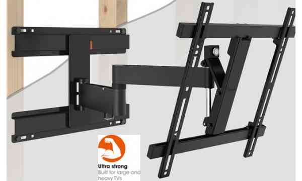 """Vogel's Wall 2246 Extra Thin Full-Motion Wall Bracket for 32"""" to 55"""" TV's - Black"""
