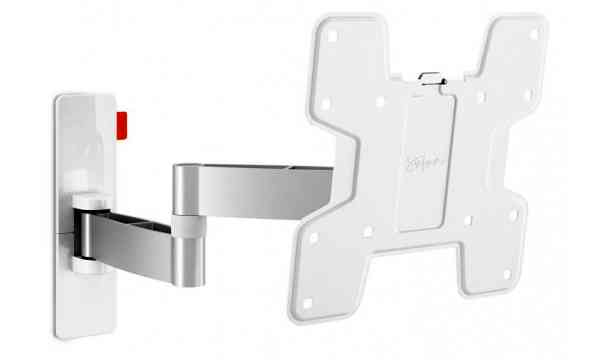 "Vogel's Wall 3145 ExtraThin Full-Motion Wall Bracket for 19"" to 43"" TV's - White"