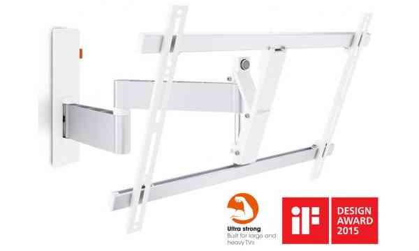 "Vogel's Wall 3345 ExtraThin Full-Motion Wall Bracket for 40"" to 65"" TV's - White"