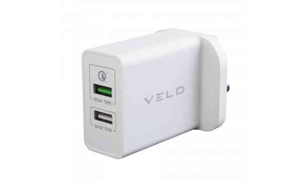 VELD VH30CW Super-Fast Wall Charger 30W 2 Port