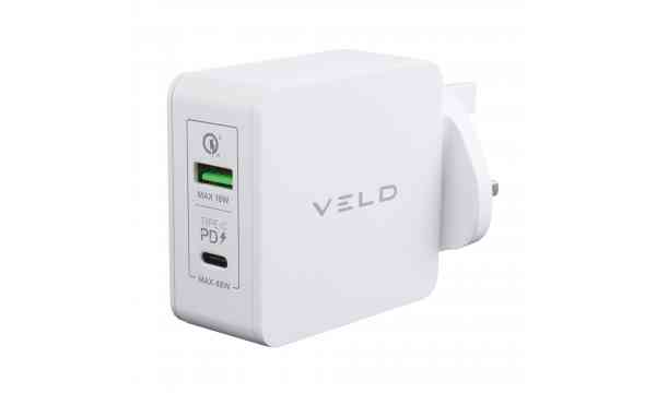 VELD VH48DW Super-Fast Wall Charger 48W 2 Port