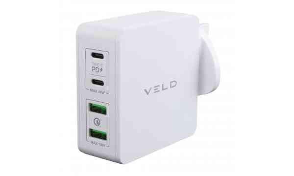 VELD VH66EW Super-Fast Wall Charger 66W 4 Port