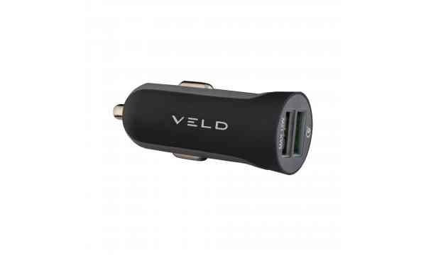 VELD VC30B Super-Fast Car Charger 30W 2 Port