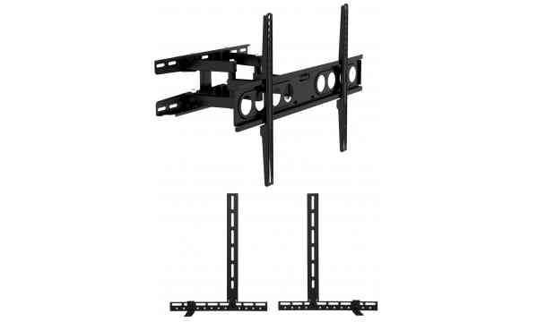 """Universal Extra Large Cantilever TV Wall Bracket for up to 70"""" TVs including Soundbar Mount - Twin Arm"""