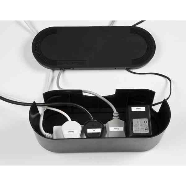 Variant / Size: Small<br />Model: Small Black Cable Tidy Unit