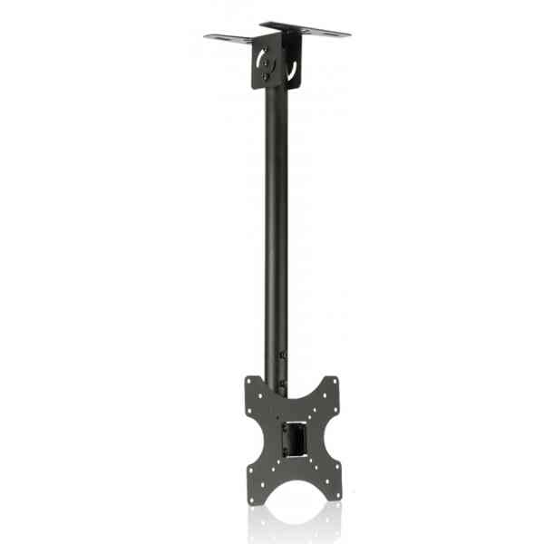 """ValuBrackets Black Telescopic TV Ceiling Mount For Up to 42"""" TV"""