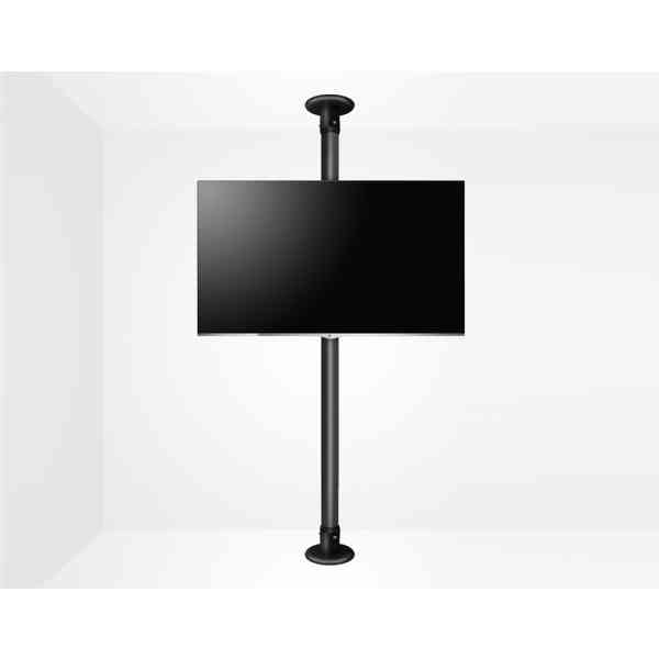 """B-Tech Floor To Ceiling Mount For Up 55"""" 3m Pole - Black"""