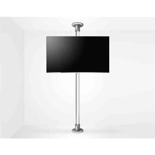 "B-Tech Floor To Ceiling Mount For Up 55"" 3m Pole - Chrome"