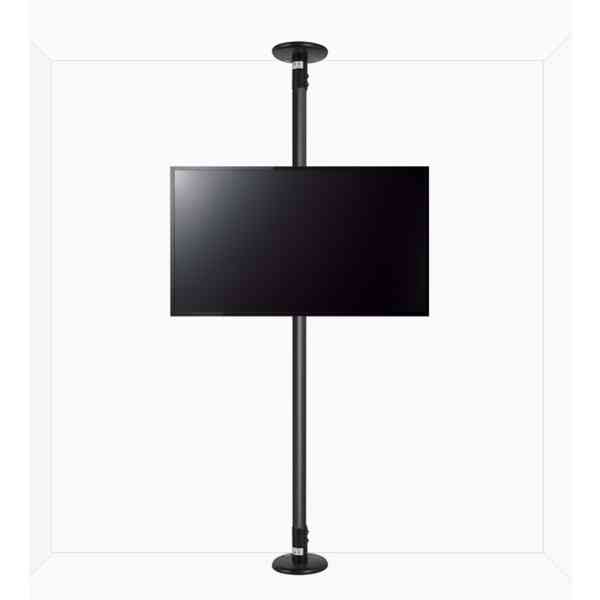 "B-Tech Floor to Ceiling Mount for up to 80"" TVs - 3m Pole - Black"
