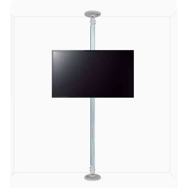 "B-Tech Floor to Ceiling Mount for up to 80"" TVs - 4m Pole - Chrome"
