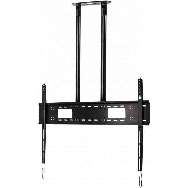 """Btech Extra-Large Flat Screen 2m Ceiling Mount for TVs up to 120"""" - Black"""