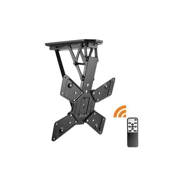 """Lithe Audio Remote Control Motorised Flip Down TV Ceiling Mount - For Up To 55"""""""