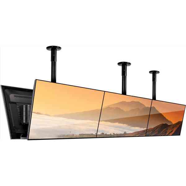 """B-Tech Back to Back Menu Board 1m Ceiling Mounting System for 6x 65"""" Screens"""