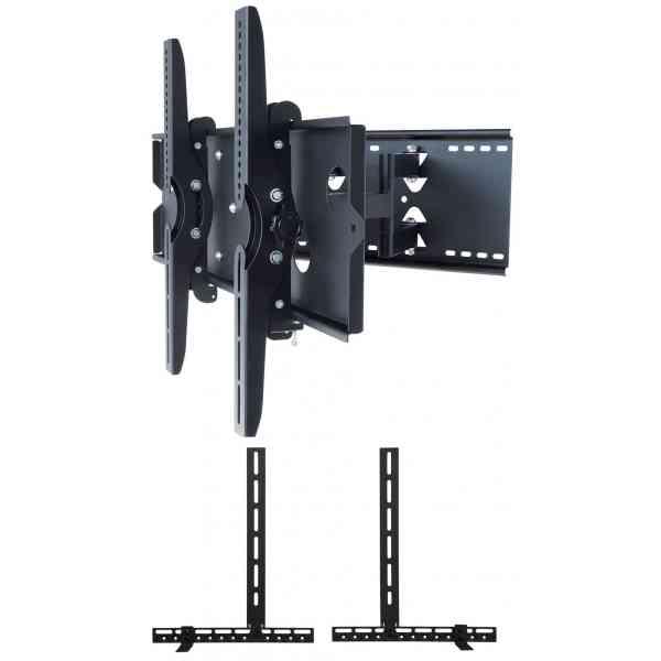 "UM110M Universal Tilt and Turn Mount up to 90"" TVs with Universal Soundbar Mount included - Black"