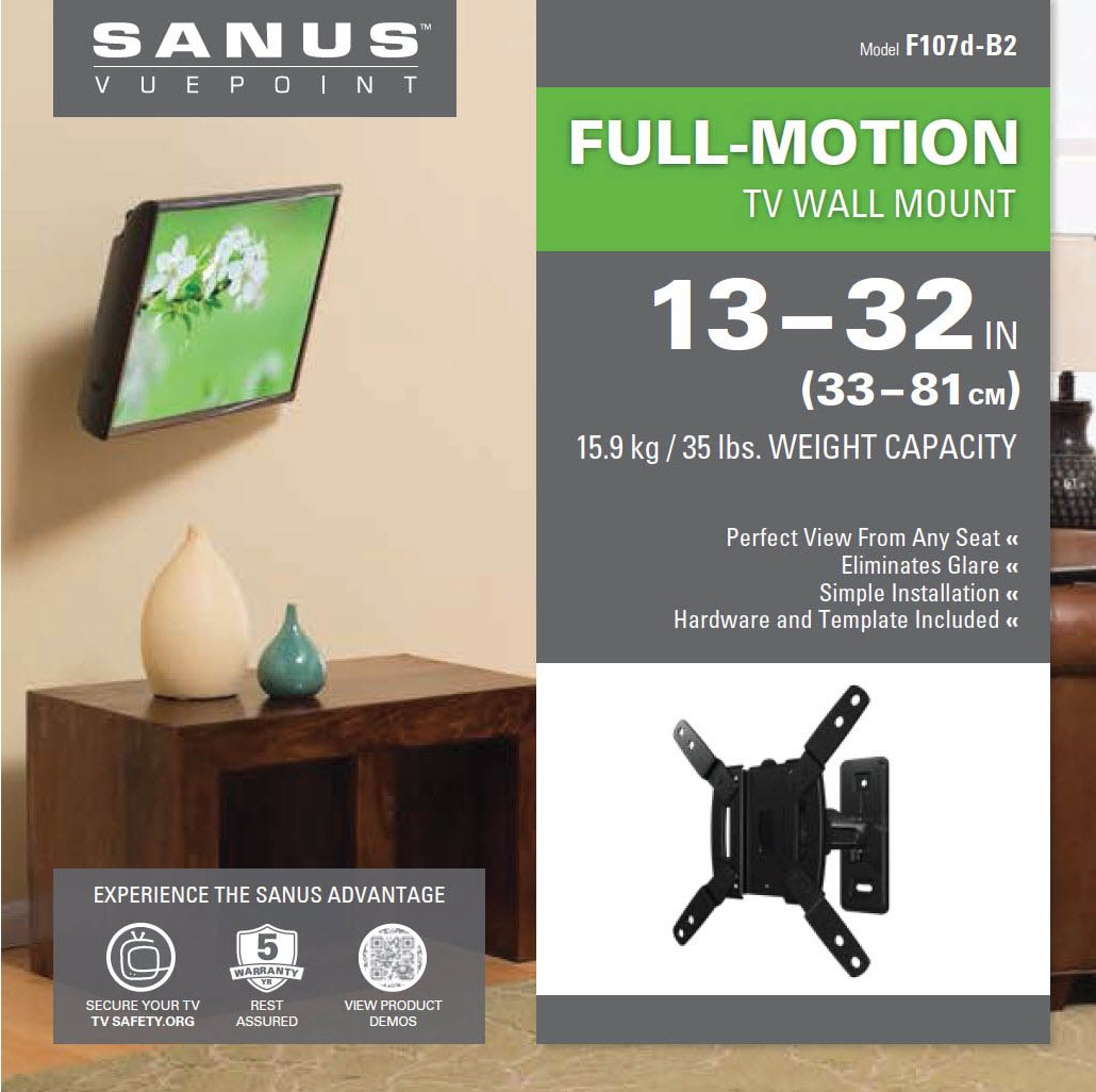 Sanus F107d Tv Wall Brackets